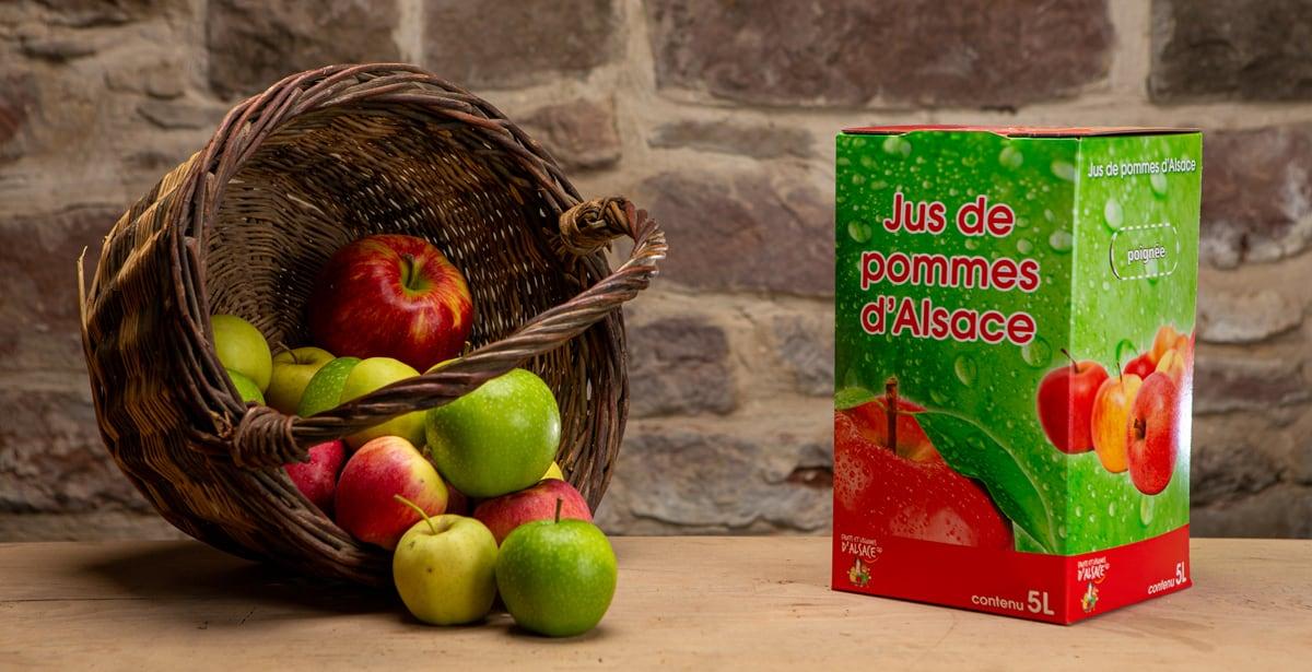 cubi de jus de pomme